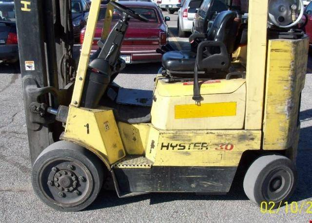 2005 lp gas hyster s80xm cushion tire 4 wheel sit down indoor