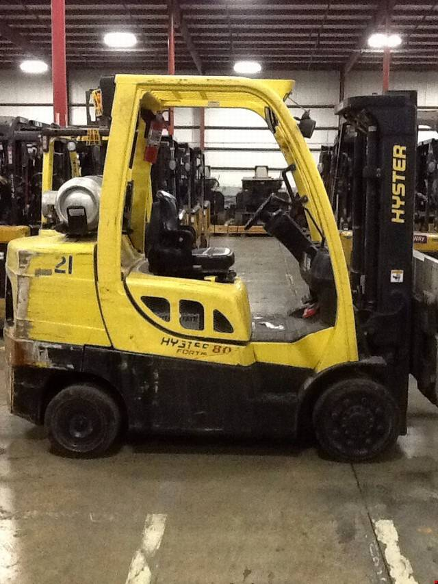 2007 lp gas hyster s80ft cushion tire 4 wheel sit down indoor