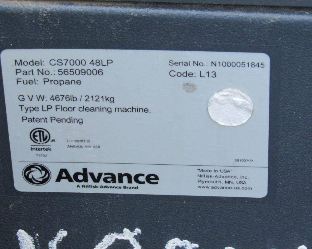 2014 Advance CS7000